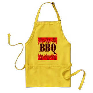 BBQ Red Flames Funny Apron