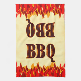 BBQ Red Flames Kitchen Towel