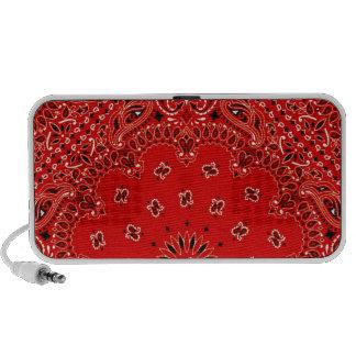 BBQ Red Paisley Western Bandana Scarf Print Travel Speaker