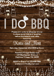 BBQ Rehearsal Dinner Invitation