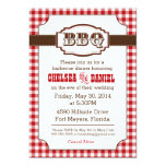 BBQ Rehearsal Dinner Invitation, Rustic Country Card