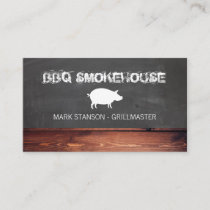 BBQ Restaurant / Pig Business Card