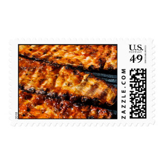 BBQ Ribs Postage Stamps