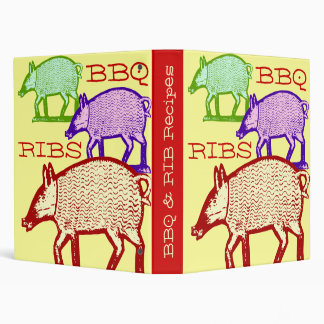 BBQ & Ribs Summer Recipe Book - Three Pigs 3 Ring Binder