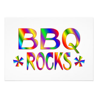 BBQ Rocks Custom Invitation