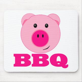 Bbq rosado lindo del cerdo alfombrilla de ratones
