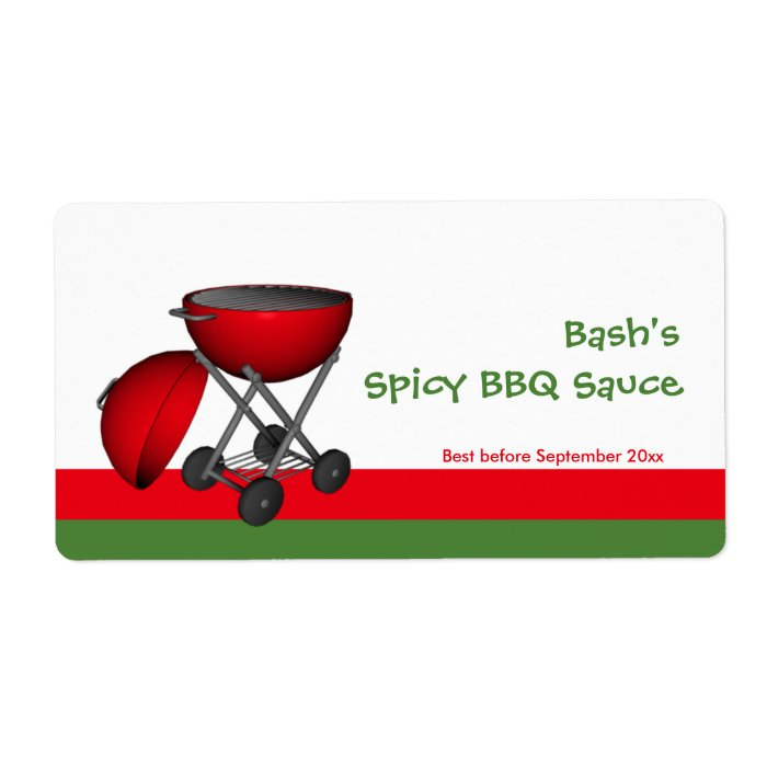 Bbq sauce jar label zazzle for Bbq sauce label template