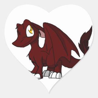 BBQ Sauce SD Furry Dragon Heart Sticker