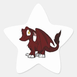 BBQ Sauce SD Furry Dragon Star Sticker