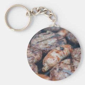 BBQ Sausages Keychain