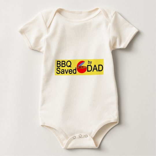 BBQ Saved by DAD Baby Bodysuit