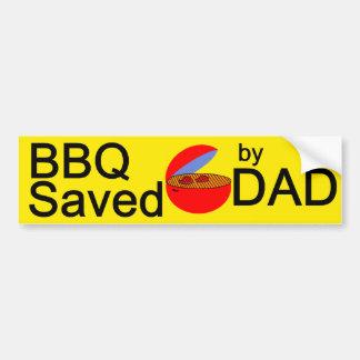 BBQ Saved by DAD Bumper Sticker