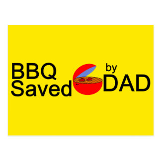 BBQ Saved by DAD Postcard