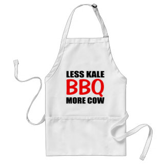 BBQ Saying, Less KALE More COW Adult Apron
