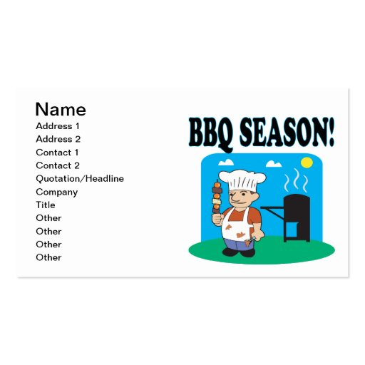 BBQ Season 2 Double-Sided Standard Business Cards (Pack Of 100)