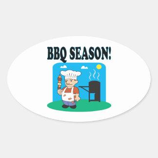 BBQ Season 2 Oval Sticker