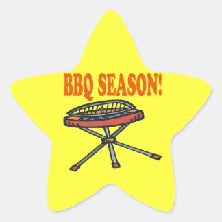BBQ Season Star Sticker