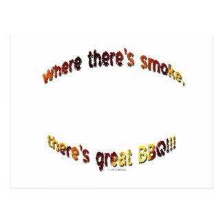 BBQ Smoke Postcard