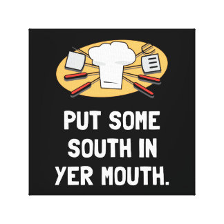 BBQ South In Mouth Canvas Print
