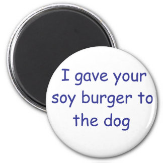 BBQ Soy Burger Refrigerator Magnets