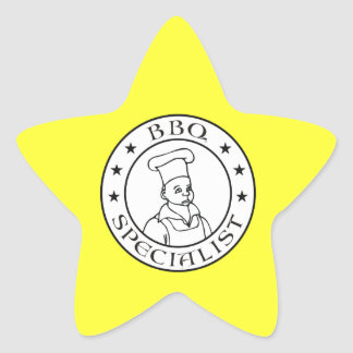 BBQ Specialist Star Sticker