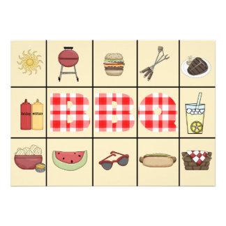 BBQ Squares Invitation