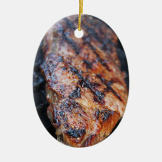 BBQ Steak Ceramic Ornament