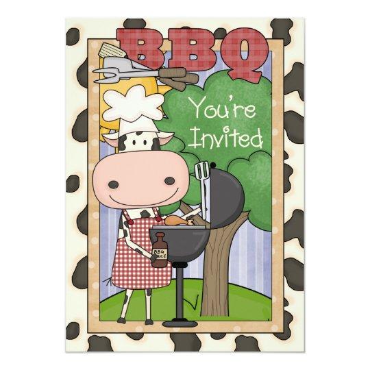 BBQ Steer Invitation