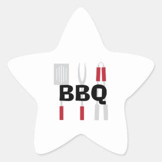 BBQ STAR STICKER