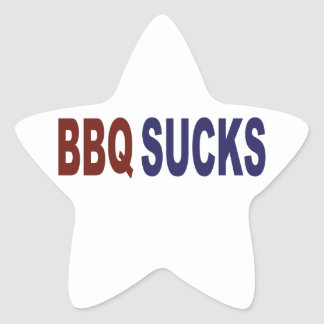 BBQ Sucks Star Sticker