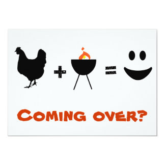 BBQ time, coming over? 13 Cm X 18 Cm Invitation Card