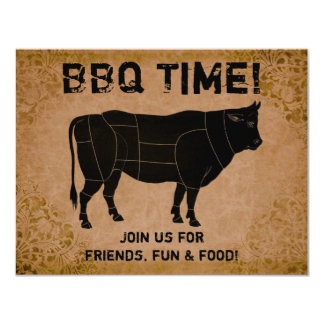 BBQ Time! (distressed vintage) Card