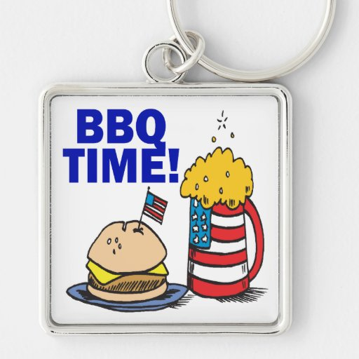 BBQ Time Key Chain