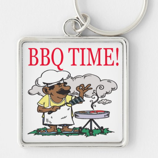 BBQ Time Keychain