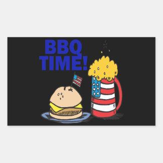 BBQ Time Rectangular Sticker