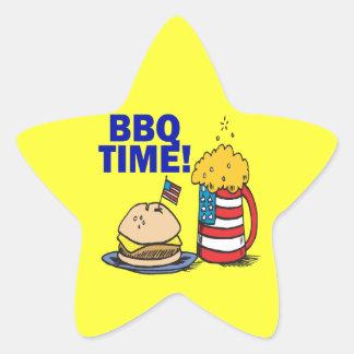 BBQ Time Star Sticker