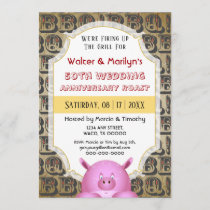 BBQ Wedding Anniversary Pig Roast Party Invite