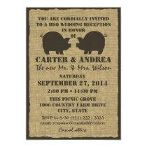 BBQ Wedding Reception Card