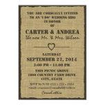 BBQ Wedding Reception Custom Invitations