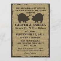 BBQ Wedding Reception Invitation