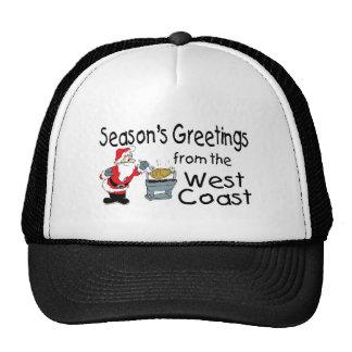 BBQ West Coast Seasons Greetings Trucker Hat