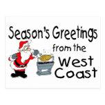 BBQ West Coast Seasons Greetings Postcard