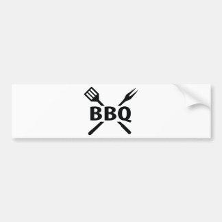 BBQ with cutlery icon Bumper Sticker