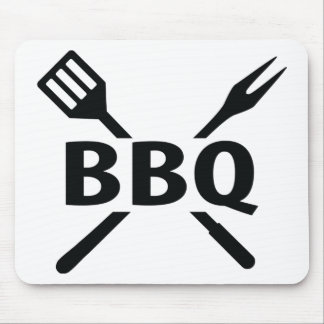 BBQ with cutlery icon Mouse Pad
