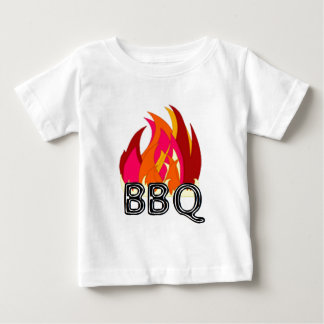 BBQ with Flames Baby T-Shirt