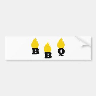 BBQ with flames icon Bumper Sticker