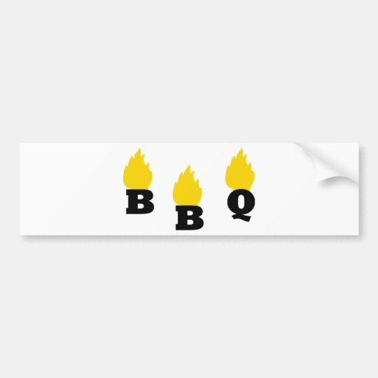 BBQ with flames icon Bumper Sticker