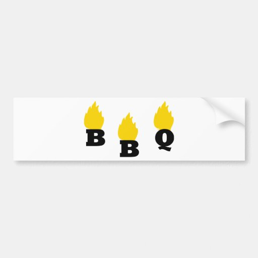 BBQ with flames icon Car Bumper Sticker