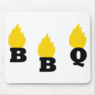 BBQ with flames icon Mouse Pad