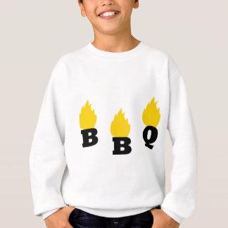 BBQ with flames icon Sweatshirt